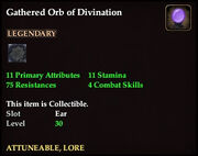 Gathered Orb of Divination