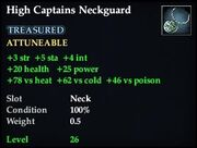 High Captains Neckguard
