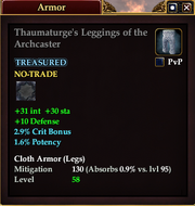 Thaumaturge's Leggings of the Archcaster