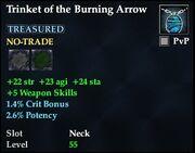 Trinket of the Burning Arrow