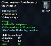 Grandmaster's Pantaloons of the Nimble