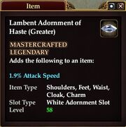 Lambent Adornment of Haste (Greater)