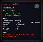 Crawler leg staff