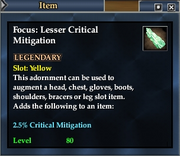 Focus- Lesser Critical Mitigation