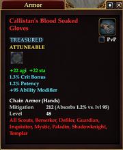 Callistan's Blood Soaked Gloves