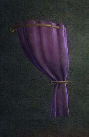 Purple Velvet Curtain Right Placed