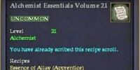 Alchemist Essentials Volume 21