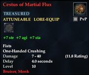 Cestus of Martial Flux