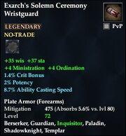 Exarch's Solemn Ceremony Wristguard