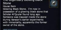 The Legendary Glowing Black Stone