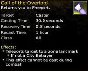 Ability Call of the Overlord