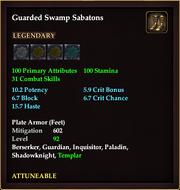 Guarded Swamp Sabatons