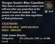 Vesspyr Scout's Blue Gauntlets