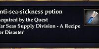 Anti-sea-sickness potion