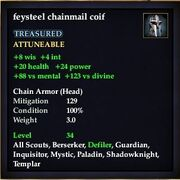 Feysteel chainmail coif