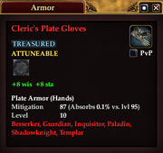 Cleric's Plate Gloves
