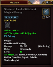 Shattered Land's Stiletto of Magical Energy