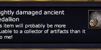 A lightly damaged ancient medallion