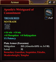 Apostle's Wristguard of Commitment