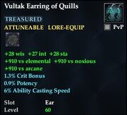 Vultak Earring of Quills