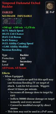 Tempered Darkmetal Etched Buckler