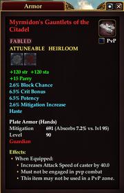 Myrmidon's Gauntlets of the Citadel