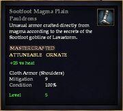 Sootfoot Magma Plain Pauldrons