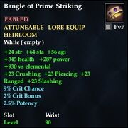 Bangle of Prime Striking