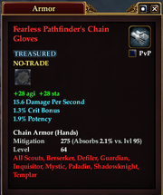 Fearless Pathfinder's Chain Gloves