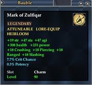 Mark of Zulfiqar