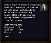 Dismal rage ceremonial leggings