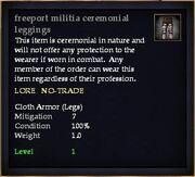 Freeport militia ceremonial leggings