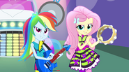 Rainbow and Fluttershy playing their instruments EG2