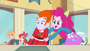 Pinkie Pie putting male student's arms down EG