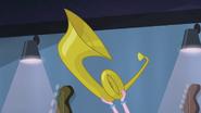 Pinkie Pie holding up a tuba EG2
