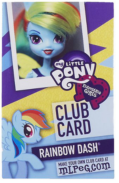 Archivo:Rainbow Dash Equestria Girls Club card.png