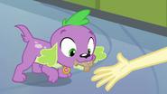 Spike eats dog biscuit EG
