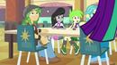 Octavia and students look at Aria Blaze EG2