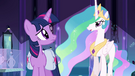 Twilight listening to Princess Celestia EG