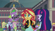 Puppy Spike with Sci-Twi's glasses in his mouth EG3
