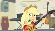 "Applejack singing ""it left us on our own"" EG2"