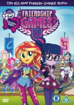 Equestria Girls Friendship Games Region 2 DVD Cover