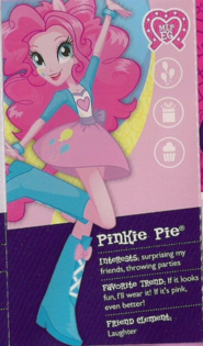 Pinkie Pie in Equestria collection pamphlet cropped