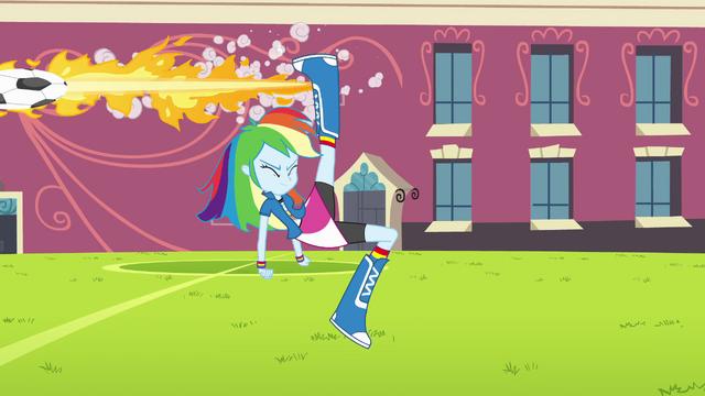 File:Rainbow Dash flaming soccer ball EG.png