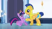 Flash Sentry helping Twilight up EG