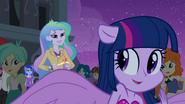 Principal Celestia and half-pony Twilight EG