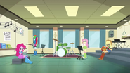 Rainbow and friends in band room EG2