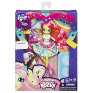 Rainbow Rocks Fluttershy Rockin' Hairstyle doll packaging
