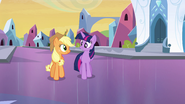 Twilight walking with Applejack EG