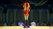 Sunset Shimmer before disapproving crowd EG2